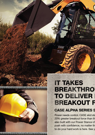 Case Construction Print Ad