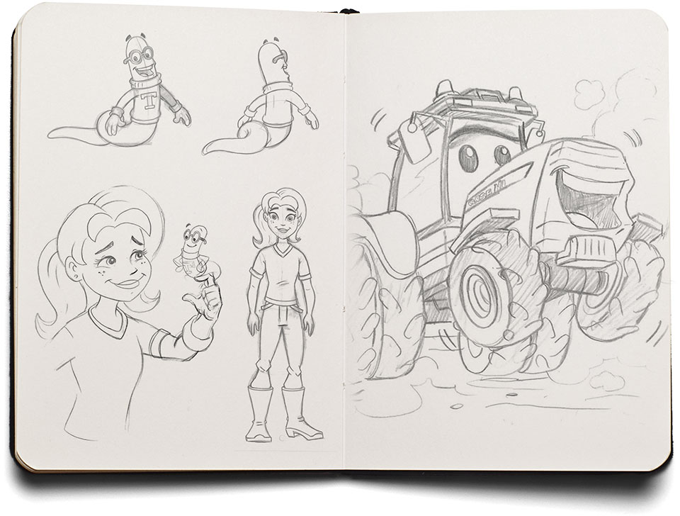 Case IH for Kids sketches