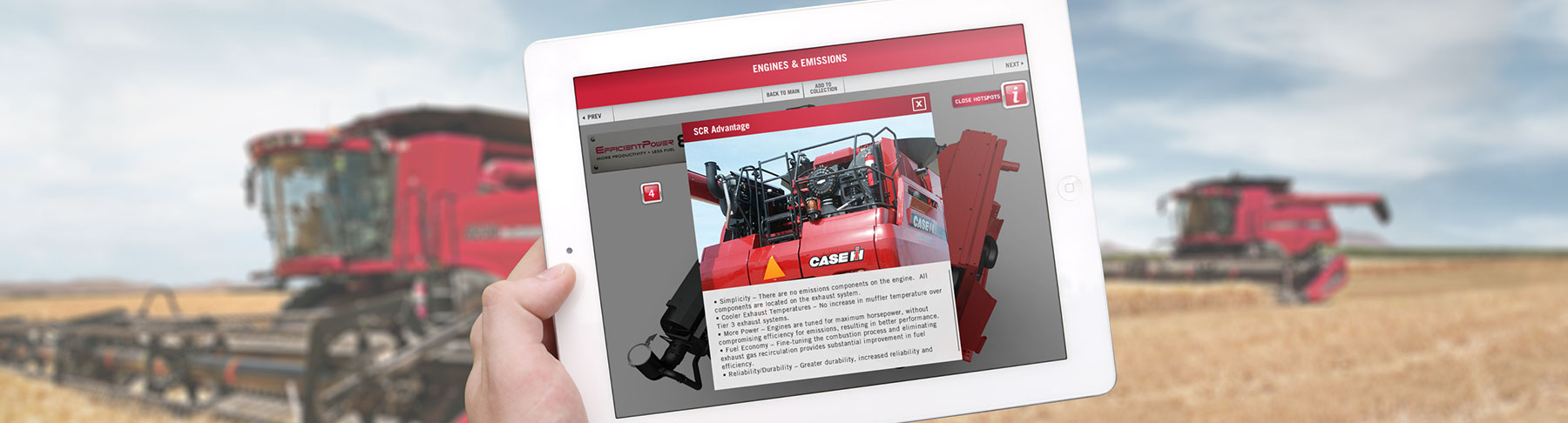 Case IH Mobile Application Image
