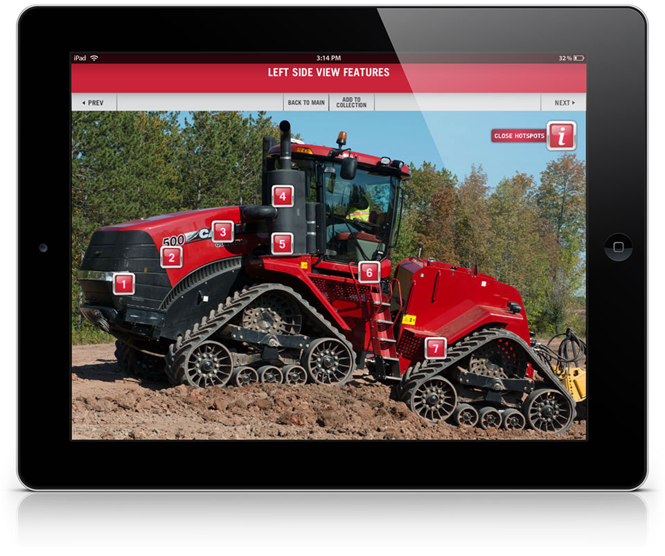 Tractor feature image with hotspots