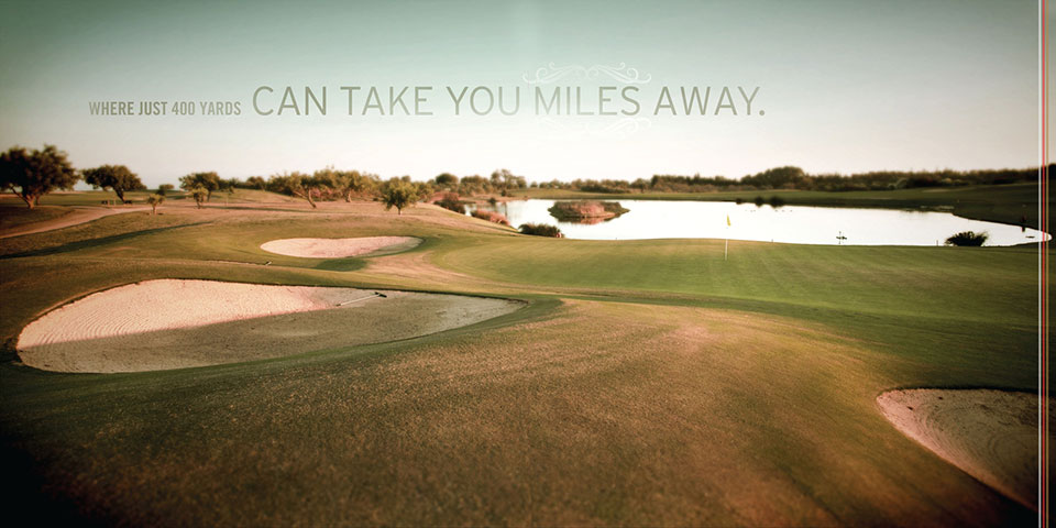 Miles away Golf Brochure page
